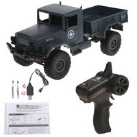 WPL B14 RC Car 1/16 Rock Crawler Off Road 4WD 2.4G Military Truck Car Funny Toy MAY 9