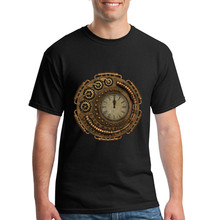Short Sleeved Clothing Steampunk Clock Homem T Shirt Mens Teenage Cheap Price T Shirt Sales