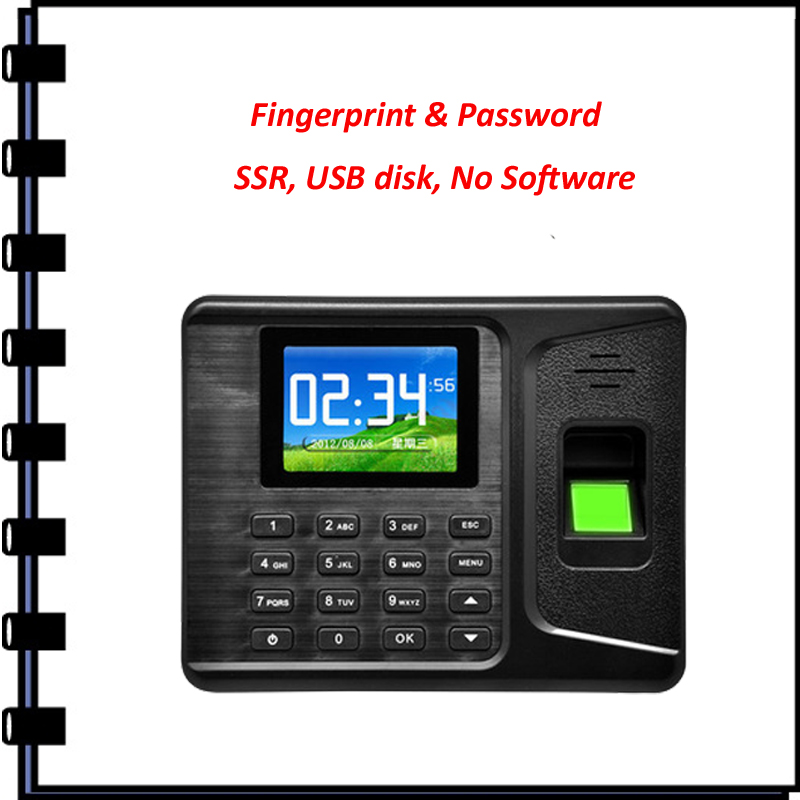 ФОТО Biometric Fingerprint Time Clock Recorder Attendance Employee Digital Electronic English Finperprint  Machine