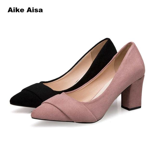 6bedced3c2e 2019 Women Pumps Ankle Strap Thick Heel Shoes Square Toe Mid Heels Dress  Work Comfortable Ladies Wedges Zapatos Mujer Casual-in Women s Pumps from  Shoes on ...