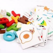 26 шт/компл деревянные игрушки для чтения Монтессори обучающая