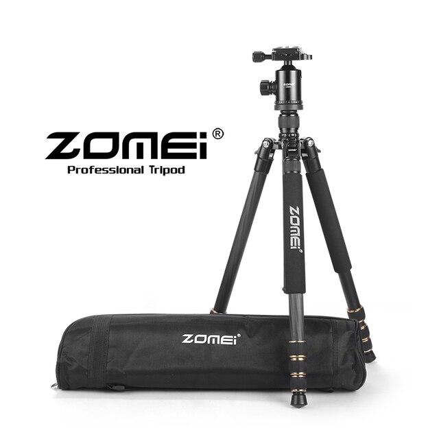 Zomei Z668C Travel Professional Carbon Fiber Camera Tripod Monopod Compact Heavy Duty Tripod Head for dslr camera