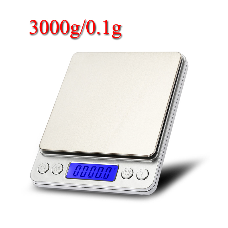 Kitchen Scales 3000g x 0.1g Mini Portable Digital for Pocket Scale 3kg 0.1 Precision Jewelry Electronic Balance Weight Scales