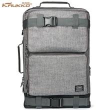 Backpack space KAUKKO Men's Vintage Canvas Duffel Convertible Bag 3 in 1 Shoulder Back Pack for backpack Travelling