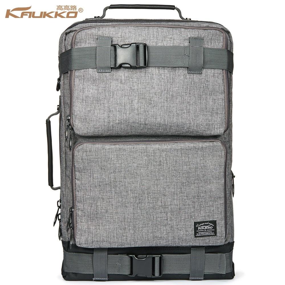 Spazio zaino KAUKKO uomo Vintage Canvas Duffel Convertible Bag 3 in 1 Spalla Zaino per zaino Viaggio