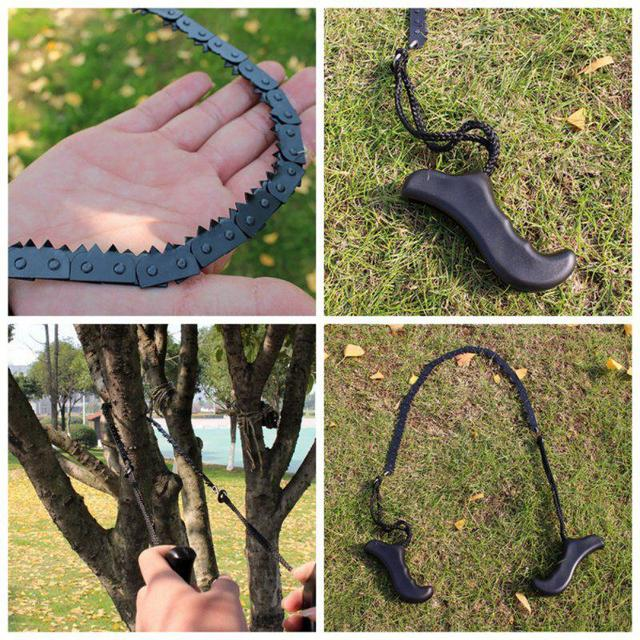 Outdoor Survival Pocket 52cm Camping Chain Saw Hand Chainsaw Camping Hiking Hunting Outdoor Emergency Kits