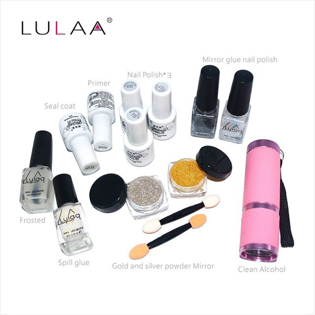 Matte bright light therapy lamp oil Mirror pink suit, women are free to choose the color of nail polish portable Liquid foundati