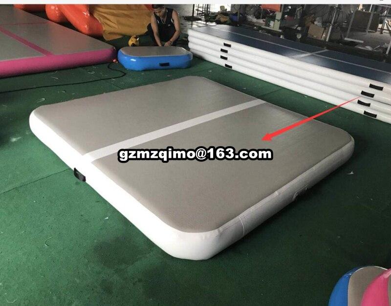 Gofun AirTrack Air Tumbling Piste Formation tapis de gymnastique Ensemble Gonflable Équipements Équilibre Exercice 200*200*20 cm