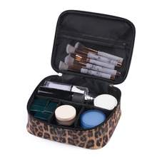 Women Makeup Bag Leopard Pu Cosmetic Travel Multi-Function Waterproof Wash Organizer Pouch Beauty Case