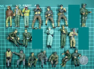 pvc figure 1:35 1/35 Second World War, US Army, German Army 19pcs/set все цены