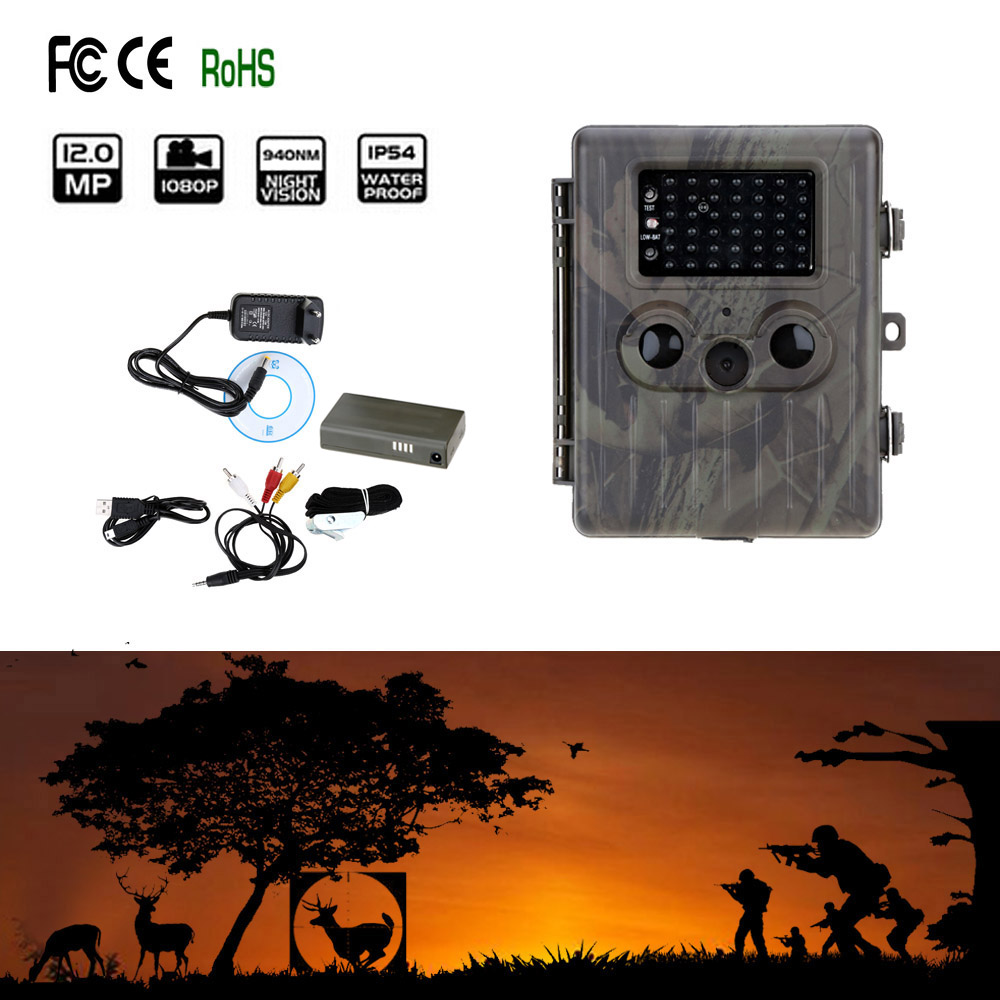 HT-002LI Wildlife Hunting Camera HD Digital Infrared Scouting Trail Camera IR LED Video Recorder 12MP 940nm scouting hunting camera 16mp 1080p new hd digital infrared trail camera 2 inch lcd ir hunter cam
