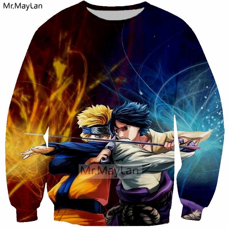 Harajuku Anime Naruto 3D Print Hatake Kakashi Sweatshirts Men Women Hip Hop Streetwear Boys Cool Black Clothes Outfits Tops 5XL in Hoodies amp Sweatshirts from Men 39 s Clothing