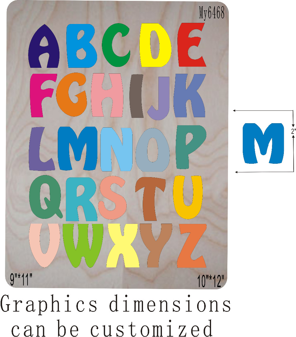 Ev ve Bahçe'ten Keser Zımbalar'de A Z Sanatsal alfabe die cut 2 Ahşap kalıplar fit//Scrabooking'da  Grup 1