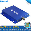 850/2100 mhz doble banda móvil señal booster CDMA teléfono celular 3G WCDMA repetidor de señal de doble banda, 3G amplificador de señal Móvil