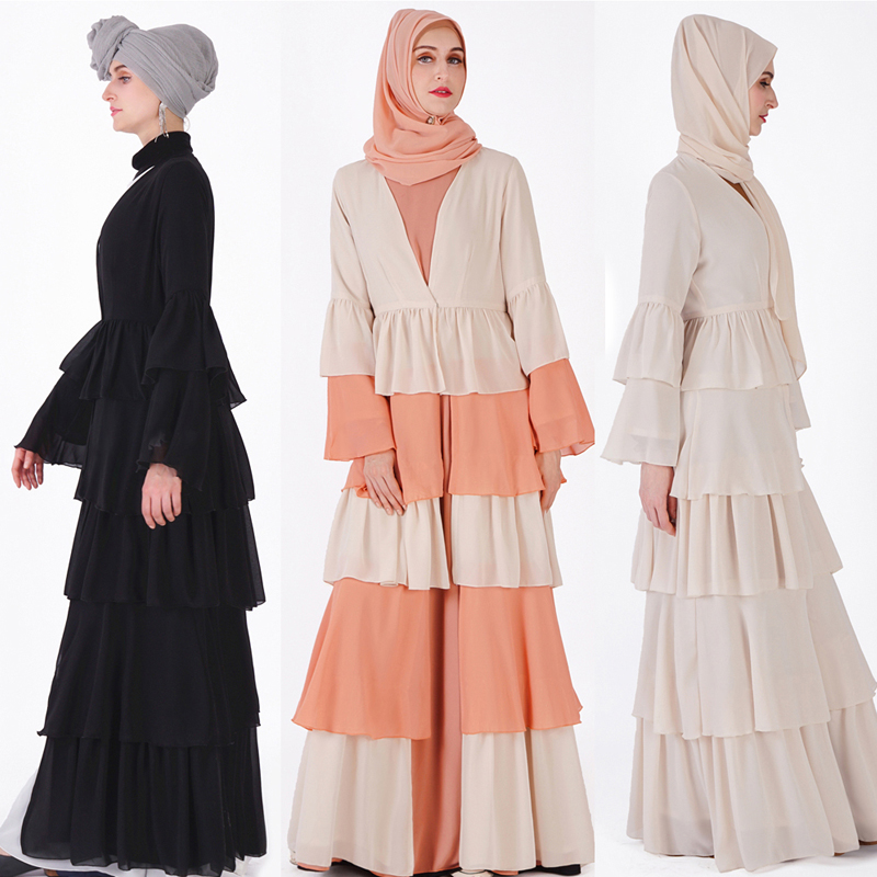Abaya Dubai Kaftan Hijab Muslim Dress Malaysia Chiffon Cardigan Jilbab Caftan Ramadan Abayas For Women Turkish Islamic Clothing