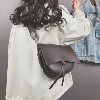 Женские винтажные сумки через плечо с широким ремешком