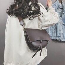 Burminsa Vintage Saddle Female Shoulder Bags