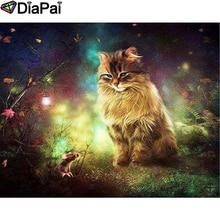 DIAPAI 100% Full Square/Round Drill 5D DIY Diamond Painting Animal cat Diamond Embroidery Cross Stitch 3D Decor A19033