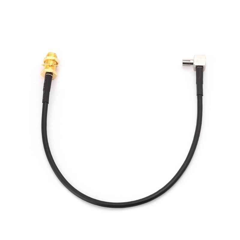 SMA שקע נקבת TS9 זכר זווית נכונה RG174 צמת כבל 20 cm אנטנת קואקסיאלי כבלים