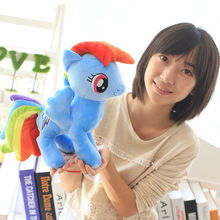 Super Cute! !25cm Cartoon Kids Animal Little Horse Stuffed Doll Plush Toys Kids Birthday Gifts Wholesale