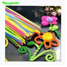 Happyxuan 2 пакеты (200 шт.) многоцветные синели стебли ершиков ручной diy art craft материал малыш творчество ремесленные игрушка