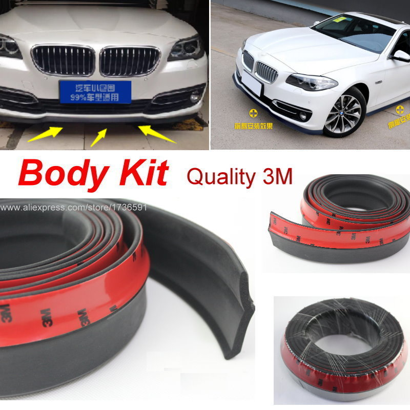 Car Bumper Lip / Body Kit For BMW 3 M3 F30 F31 F34 2011~2015 / Front Tapes / Rear Skirt Spoiler / Deflector Rubber Strip