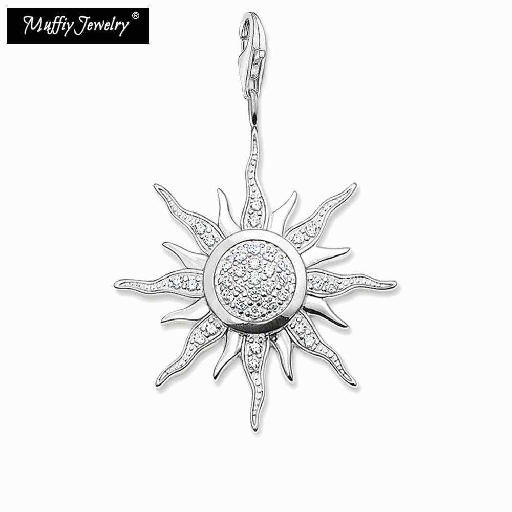 Large Pave Sun Pendant,Thomas Style Glam Fashion Good Jewelry For Men And Women,Ts Gift In 925 Sterling Silver,Super Deal