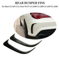For Benz CLA W117 CLA45 AMG Carbon Fiber Look Rear Bumper Spoiler Air Vent Cover 2013 2018 2pcs