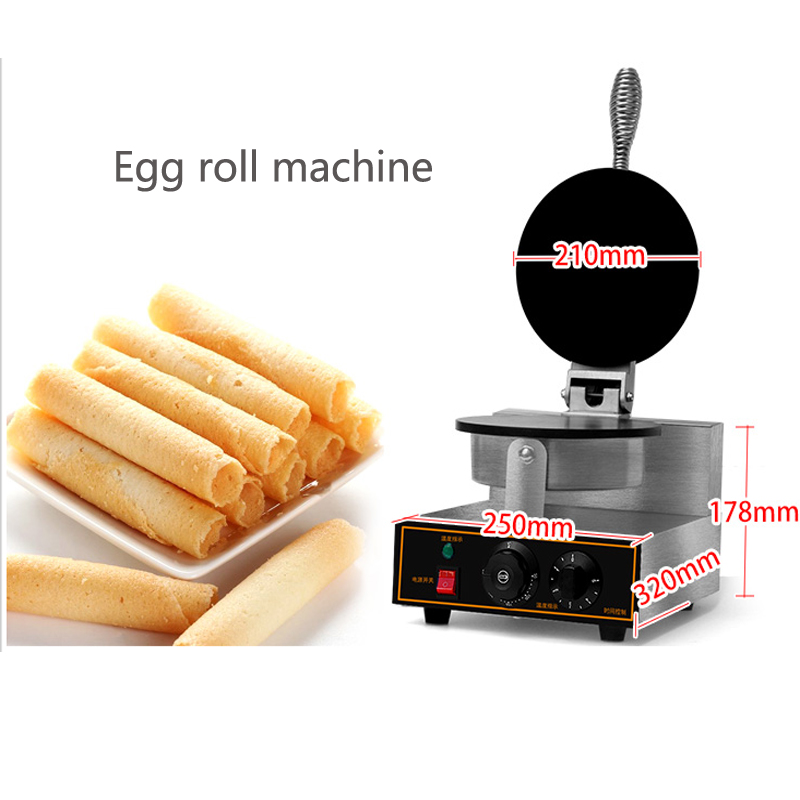 commercial Egg roll biscuit/Automatic egg roll making machine/egg roll baking machine pizza bread skin bread roll skin spring roll machine making machine with one mould