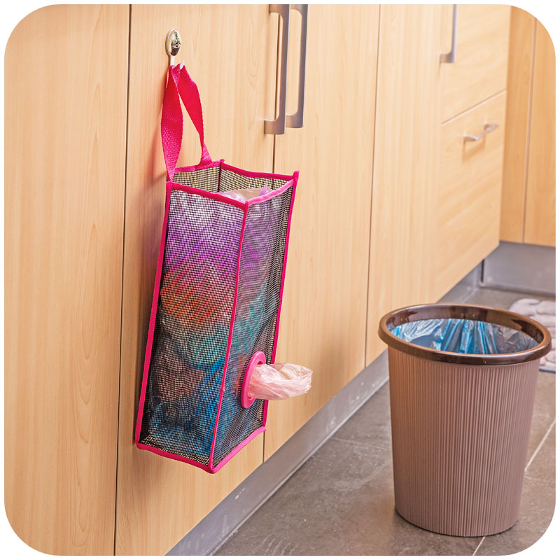 Hanging Trash Bag Storage Shopping Bagstor Container Natural Basket Grocery Mesh Trash Wall Dispenser Kitchen Organizing Decor-in Bags u0026 Baskets from Home ... : garbage bag storage  - Aquiesqueretaro.Com