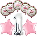 Девушка дети мальчик детей первый день рождения ну вечеринку поставляет звезды принцесса декор фольга гелиевых шаров поставки