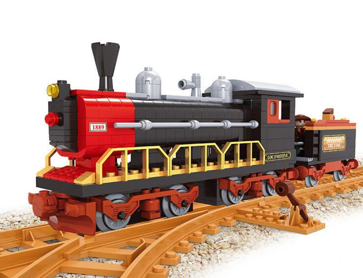 Model building kits compatible with lego trains rails 333 3D blocks Educational model building toys hobbies for children power trains набор с краном 48627