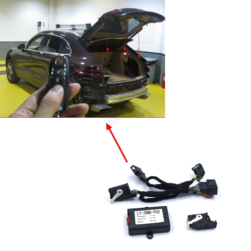 PLUSOBD Auto Power Window Closer Remote Control Car Module For Porsche For Panamera Macan Cayenne Remote Trunk Close By Key