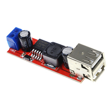 Smart Electronics Dual USB Output 9V / 12V / 24V / 36V Car Charger Switch 5V DC-DC Power Supply Module 3A Buck Regulator недорого