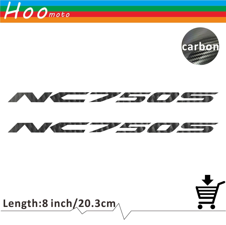 Car Motorcycle Sticker Decal Carbon Car Sticker  Wheels Fairing Helmet 5D Carbon Fiber Sticker For HONDA  NC 750 S NC750S