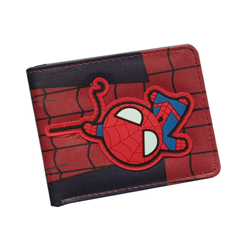 Pop Spider Man Serie Classic Anime Wallet Cartoon Super Hero Spiderman Wallet Bifold Short Student Comics Purse Venom Wallet Bag hot japanese cartoon anime wallet eva neon genesis evangelion student purse short billfold for young man cool gift choose