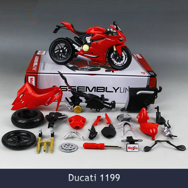Brinquedos Diy Assembly Motorcycle Model Toy Kawasaki Multiple styles 1:12 Puzzle For Child Gift Or Collection