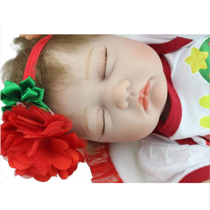 55cm Simulation Lifelike Silicone Vinyl Reborn Baby Doll Toys Christmas Birthday Gift Girl Brinquedos Play House Cute Newbabies