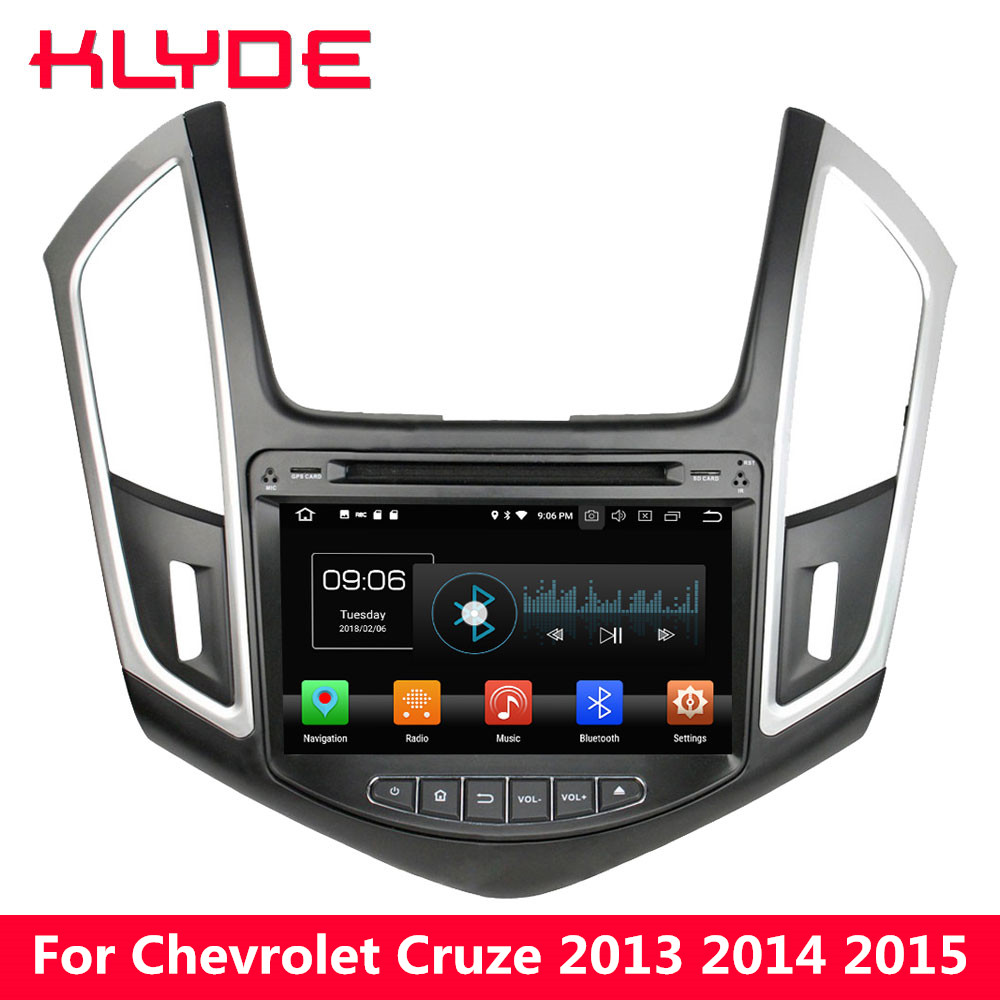 KLYDE 4G WIFI Android 8.0 Octa Core PX5 4 GB RAM 32 GB ROM voiture lecteur DVD Radio GPS Navigation pour Chevrolet Cruze 2013 2014 2015