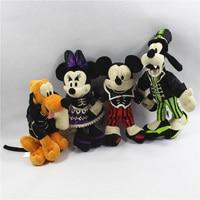1 Piece Halloween Mickey Minnie Mouse Vampire Goofy Pluto Dog Plush Toys Doll Kids Gifts Children