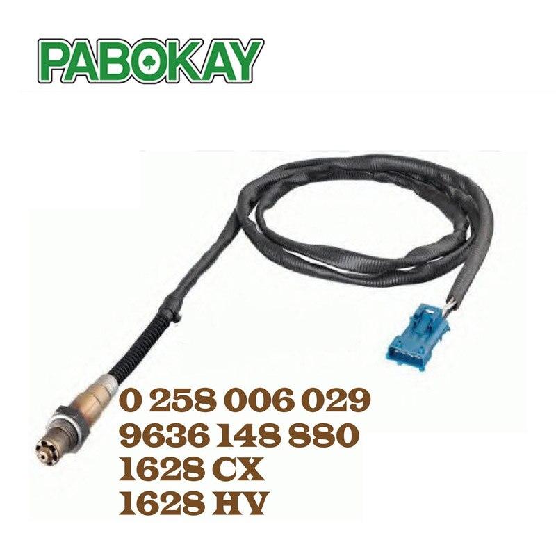 Oxygen O2 Lambda Sensor for Peugeot 206 307 607 806 1628HV 1628CX 96 229 977 NEW 0258006029 1628.CX 1628.HV 1997223 107223