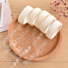 10M Cute Small Fresh Transparent Lace Washi Tape DIY Planner Masking Tape Adhesive Tapes Stickers Decorative Stationery Tapes