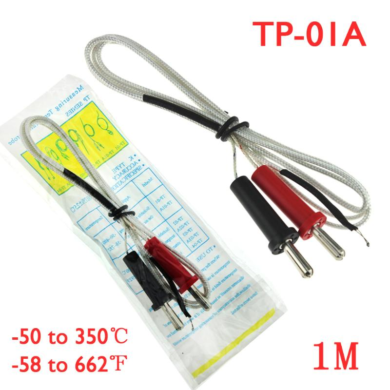 1/2/5pcs Set TP-01A 100cm Length Wire Temperature Test Cable K-type Thermocouple Sensor Probe For Temperature Controller