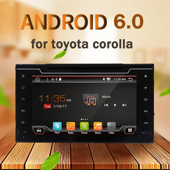Android 6.0 Quad Core 2G RAM car dvd player for Toyota corolla 2016-2017 with Wifi 4G LTE Network mirror link GPS BT