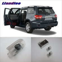 Liandlee Plug and Play Car Courtesy Doors Lights For Toyota Sequoia 2010~2014 / Projector Welcome Light Ghost Shadow Lamp liandlee plug and play car courtesy doors lights for volvo s80 2013 2014 brand logo projector welcome light ghost shadow lamp