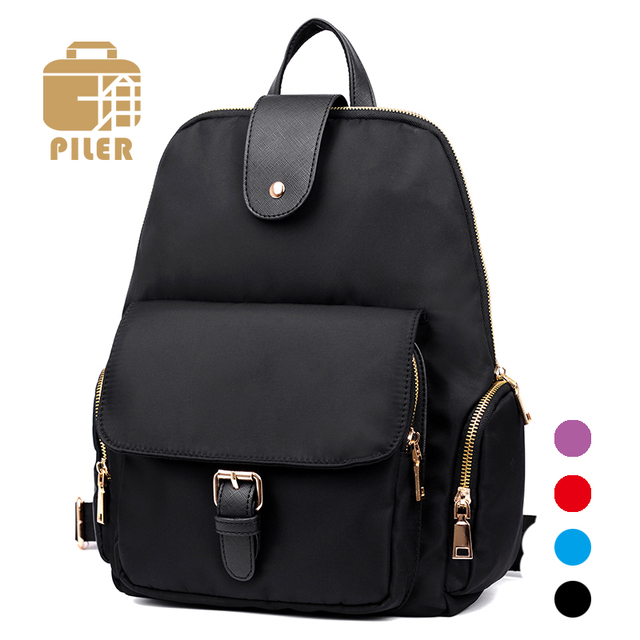 2018 Fashion Preppy Style Women Black Oxford School Bags Casual Backpack  Women Nylon Shoulder Bags Student Bag Leisure College ace59b615a6b0