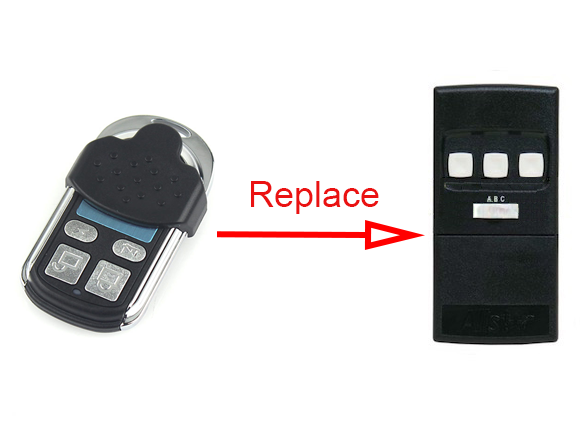 Allstar 109023 Garage Door Opener Replacement Remote 9 Dip Switch