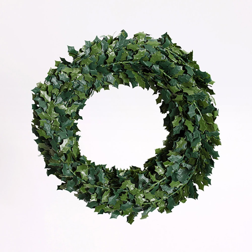 75 meters small leaveschristmas leaves artificial christmas wreath garland unlit - Small Christmas Wreaths