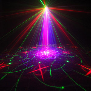 Image 2 - ESHINY מיני RGB 5 עדשת לייזר 128 דפוסים מקרן כחול Led מועדון בית המפלגה בר DJ דיסקו חג המולד ריקוד שלב אפקט אור N60T155