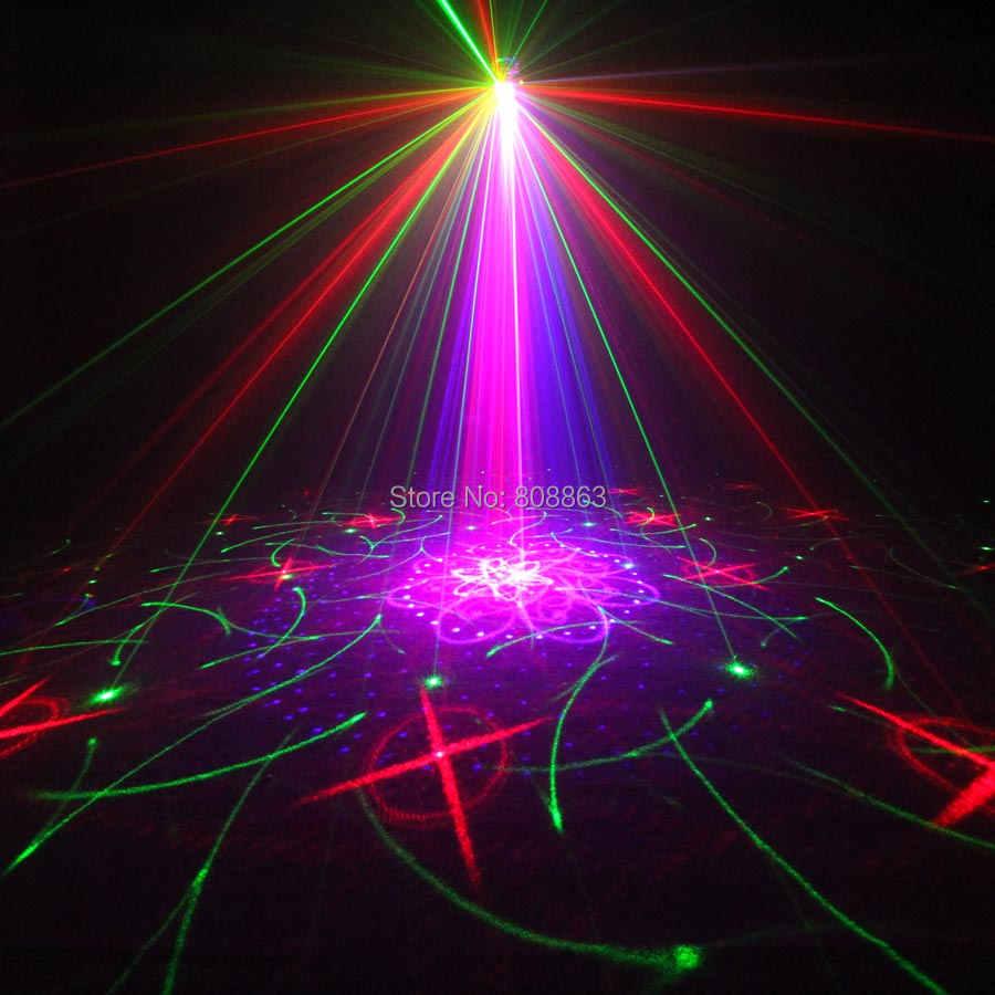 Eshini мини RGB 5 объектив лазер 128 узоры проектор синий светодиодный клуб дома вечерние Бар Диско DJ Рождество танец сценический эффект свет N60T155